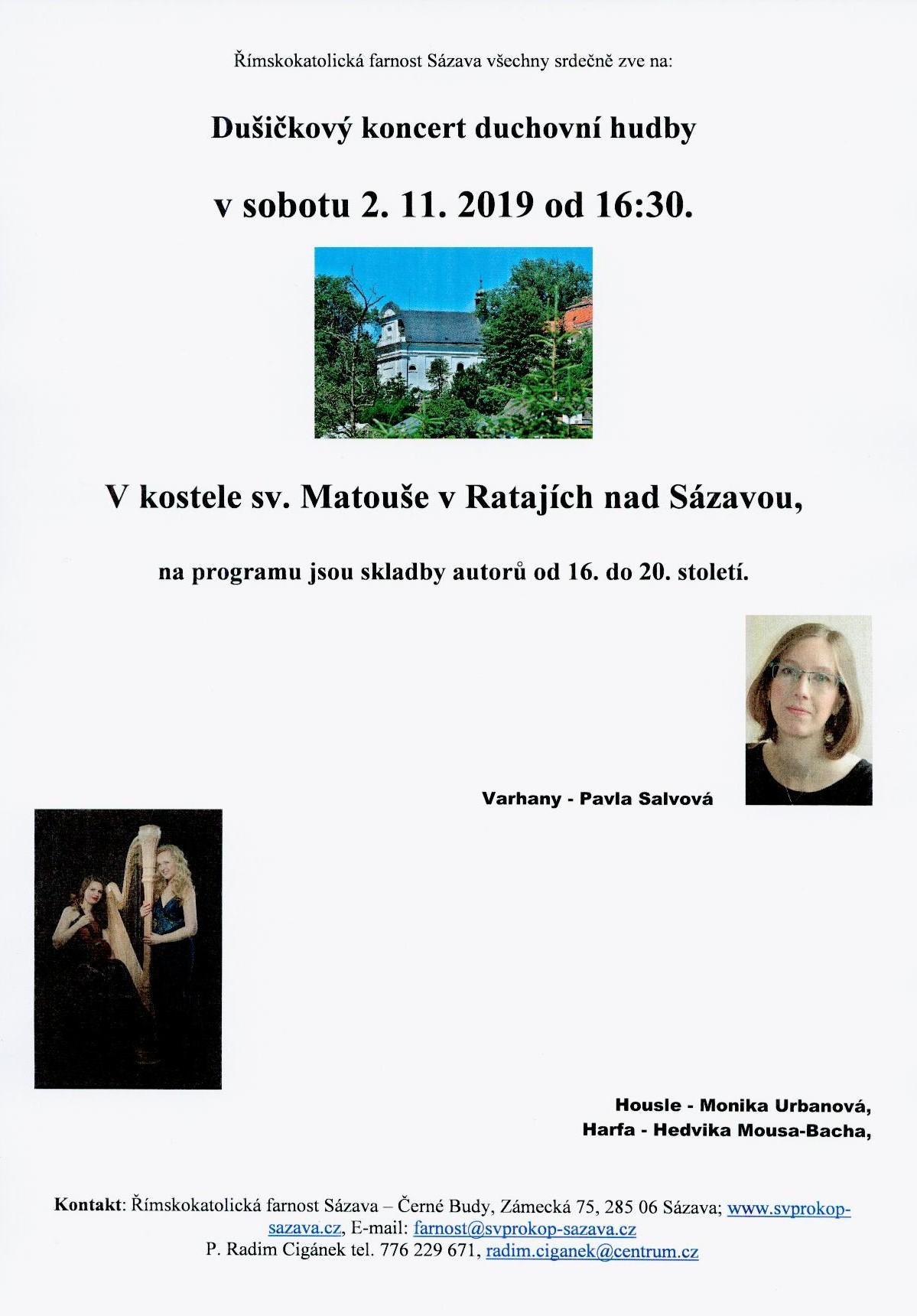 Dusickovy koncert 2019 Salvova Urbanova Mousa Bacha